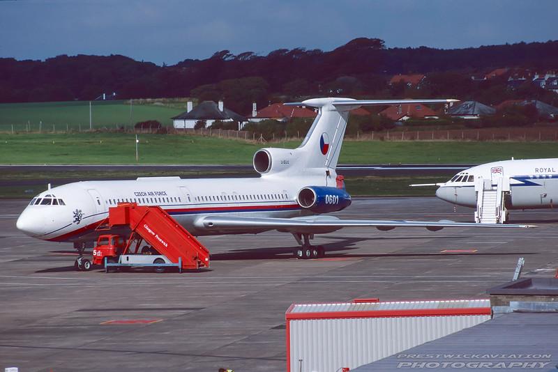0601. Tupolev Tu-154B-2. Czech Air Force. Prestwick. October. 1998.