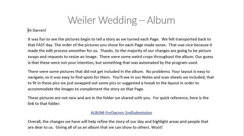 Drea Avila Weiler emails, album, & instructions