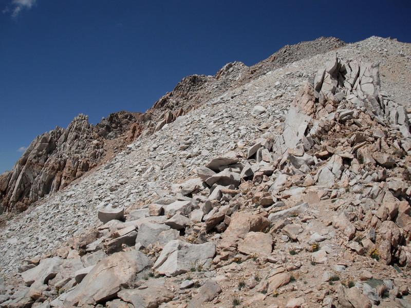 turning around and backup to Montgomery Peak