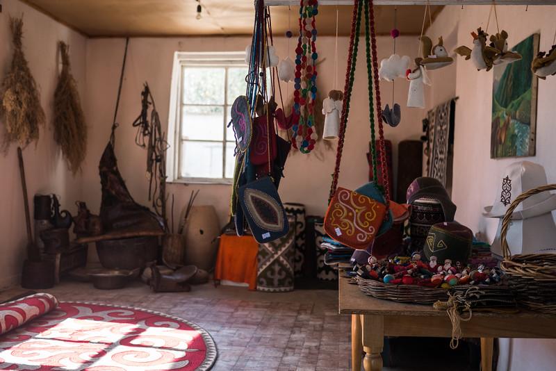 Woven handicrafts at Altyn Oimok