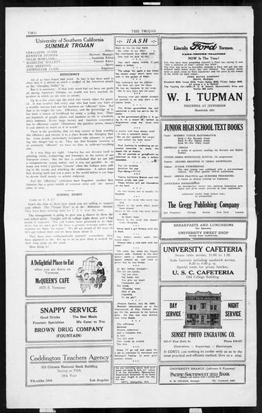 The Southern California Trojan, Vol. 3, No. 8, July 25, 1924