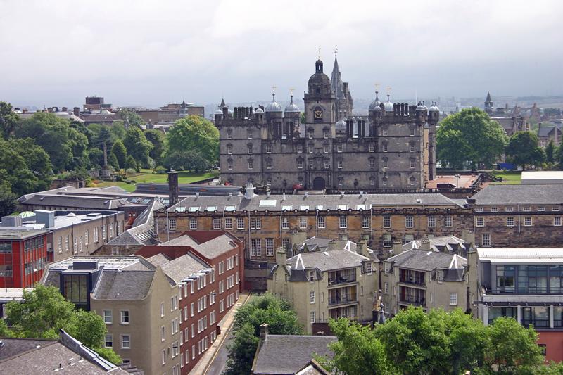 George Heriot's School from Castle Hill, Edinburgh