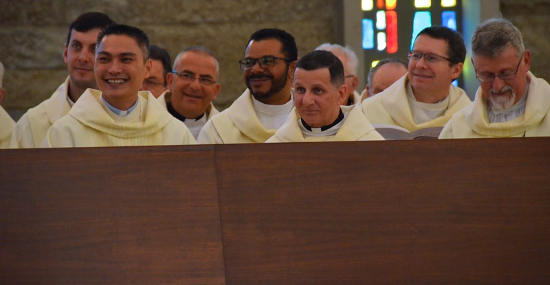 SCJs watch as the jubilarians are introduced