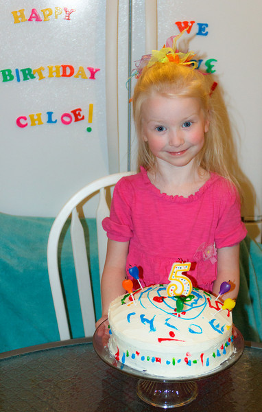 Chloe decorated her own cake - Age 5 - March 29, 2011
