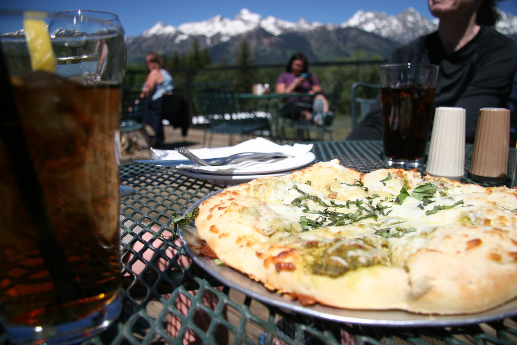 . Pizza on the roof at the fifth-generation-owned Dornan\'s in Moose, Wyo., is a must-do. Kyle Wagner, The Denver Post