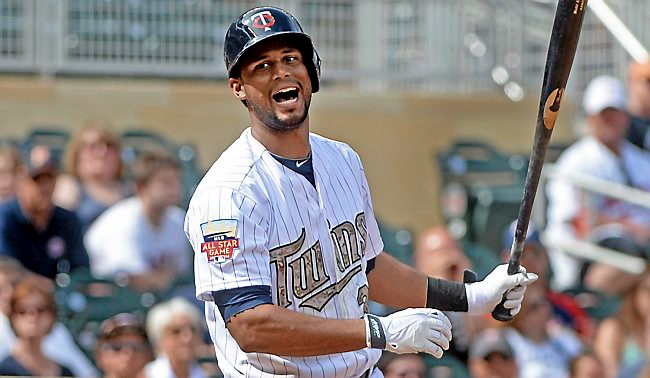 ". 15. AARON HICKS <p>It took Twins another 48 games to realize Mr. Mendoza Line can�t hit big-league pitching?  <p><b><a href=\'http://www.twincities.com/twins/ci_26031631/twins-option-aaron-hicks-class-aa-new-britain\' target=""_blank\""> LINK </a></b> <p>    (Pioneer Press: John Autey)"