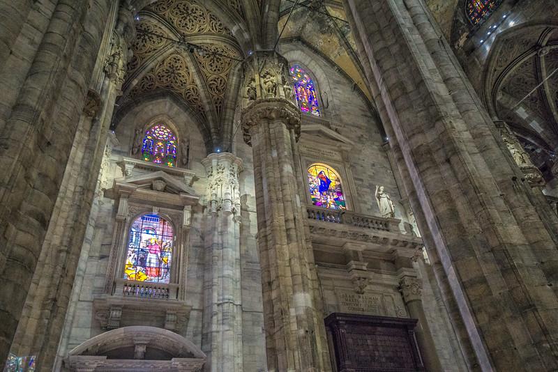 The Duomo, Milan. The interior