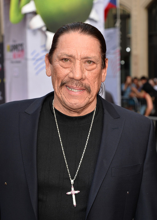". Actor Danny Trejo arrives for the premiere of Disney\'s ""Muppets Most Wanted\"" at the El Capitan Theatre on March 11, 2014 in Hollywood, California.  (Photo by Kevin Winter/Getty Images)"