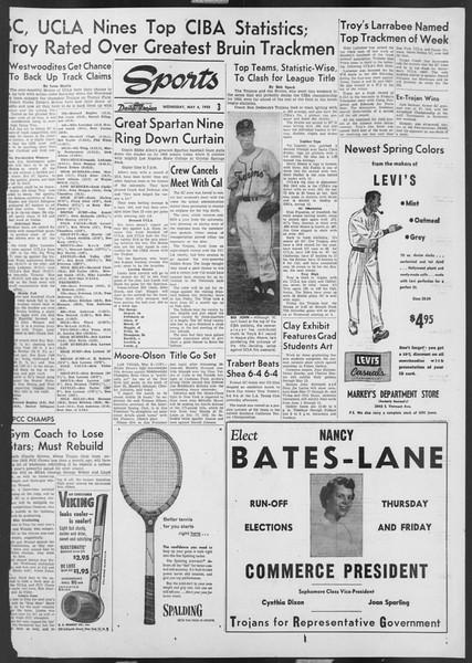 Daily Trojan, Vol. 46, No. 128, May 04, 1955