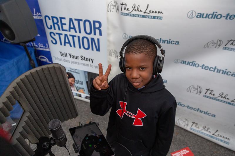 2019_10_11, Bronx, NY, PS25, Tents, Audio-Techinca, Creator Station