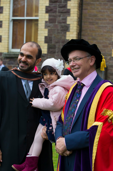 03/11/2017. Waterford Institute of Technology Conferring are Sayyaf Alanazi with his daughter Dana from Saudi Arabia. Picture: Patrick Browne.