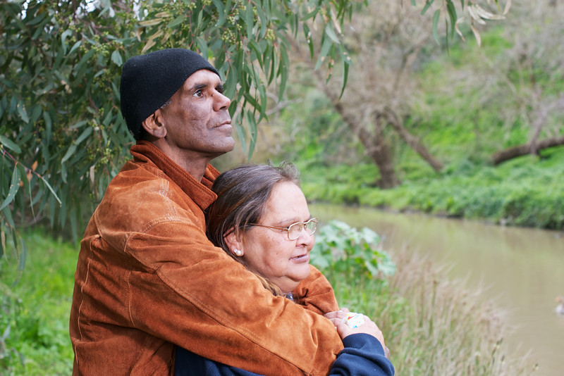 This couple was photographed in Inner Urban Melbourne with the Merri Creek in the background