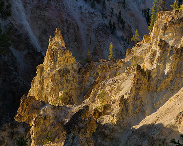 Cliffs along the Grand Canyon of the Yellowstone