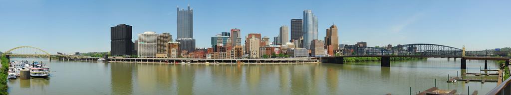 Pittsburgh skyline from Monongahela River