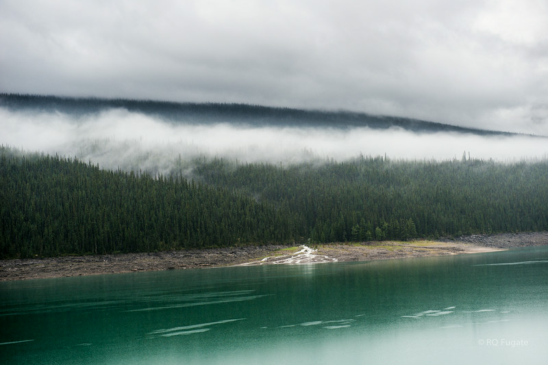 Medicine Lake east of Jasper. The weather was not very nice but made for some interesting pictures.