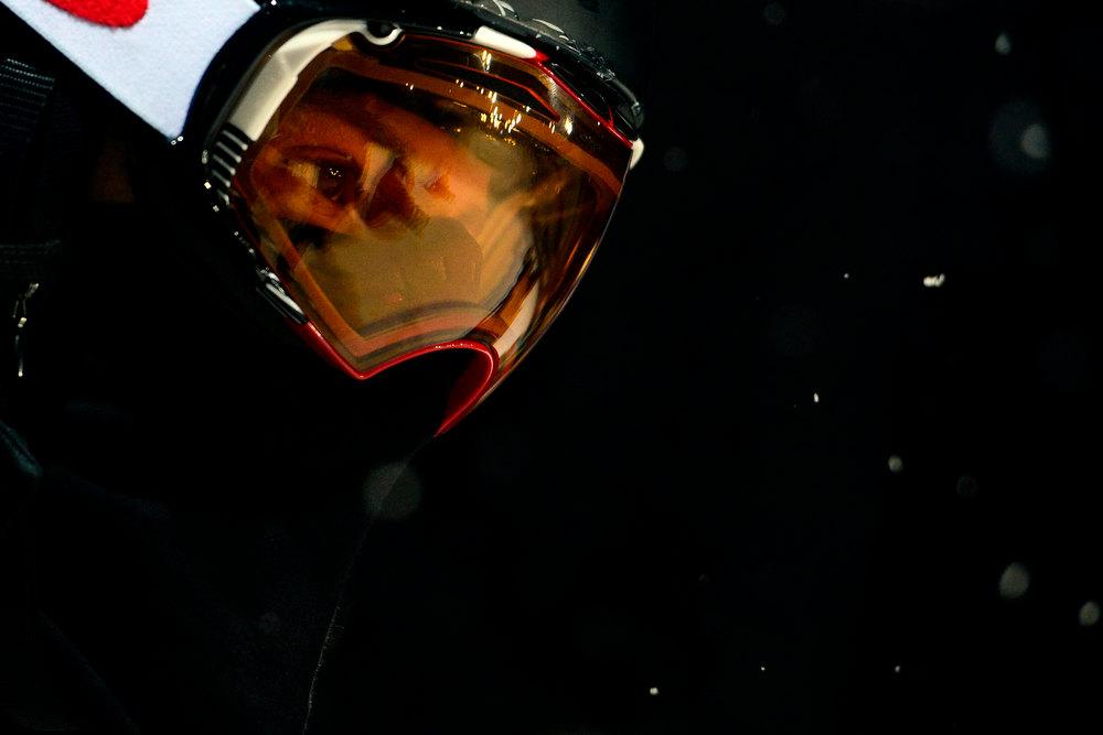 Description of . ASPEN, CO. - JANUARY 24: Shaun White prepares for a practice run during the men's Snowboard Superpipe elimination. Men's Snowboard Slopestyle elimination X Games Aspen Buttermilk Mountain Aspen January 24, 2013 (Photo By AAron Ontiveroz / The Denver Post)