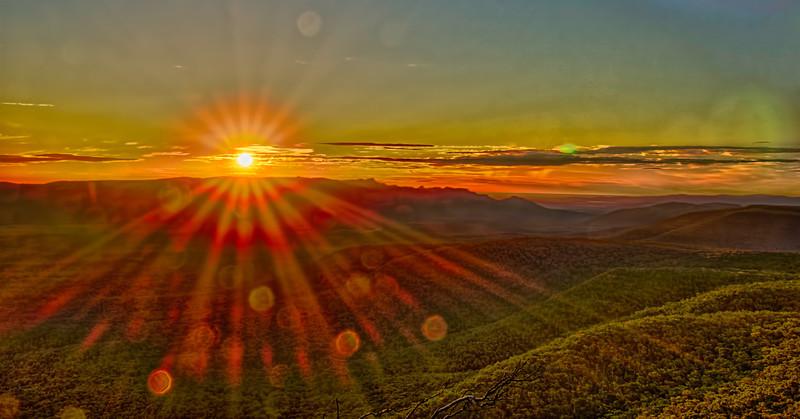 Sunset halos