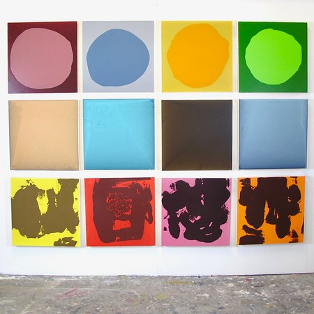 """Dozen - Iorillo, 12 each at 20""""x20"""" paintings on canvas wrapped around wood"""