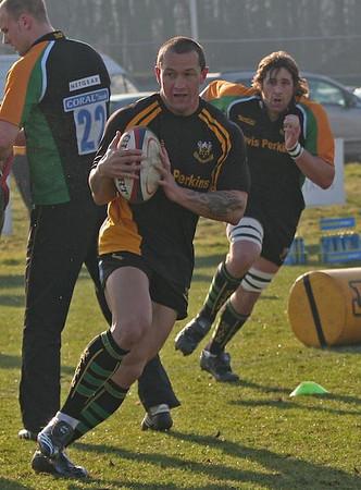 Addy Farmer's Doncaster Knights vs Northampton Saints, National Division 1, Castle Park, 10 February 2008