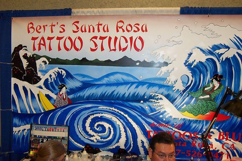 Organizers Booth -  Bert's Santa Rosa Tattoo Studio