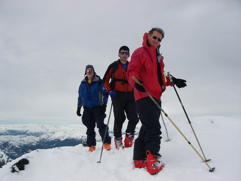 At the top of Blackcomb (2.420m = 7,940ft)