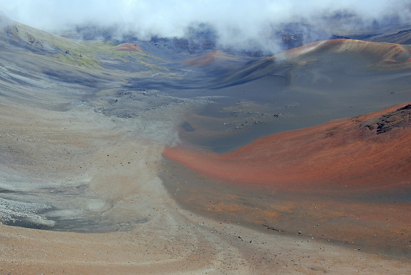 The Halakeala crater at the Haleakala National Park - Maui, Hawaii