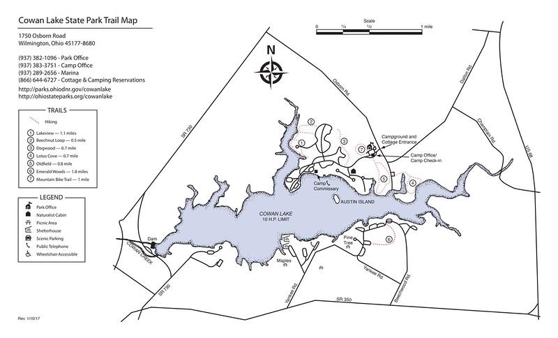 Cowan Lake State Park (Trail Map)