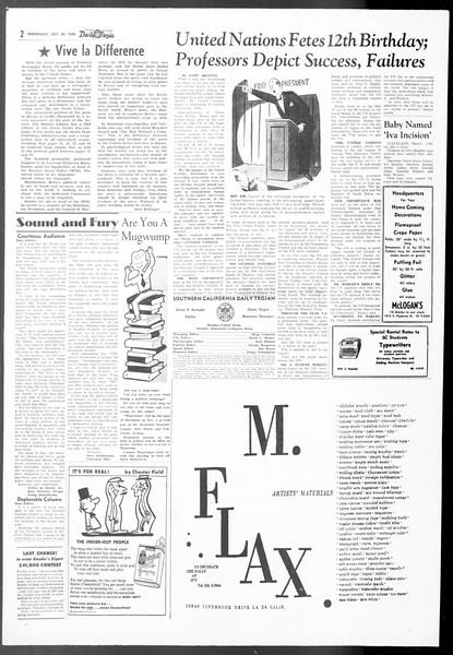 Daily Trojan, Vol. 48, No. 24, October 24, 1956
