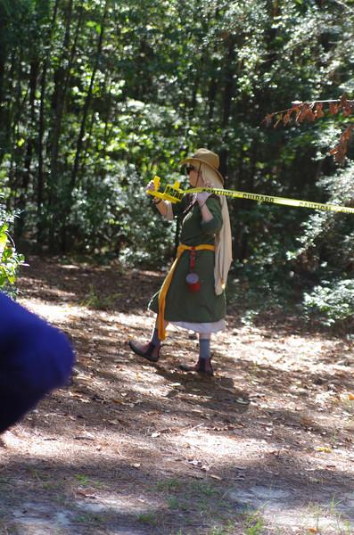 Skaia marks the archery area