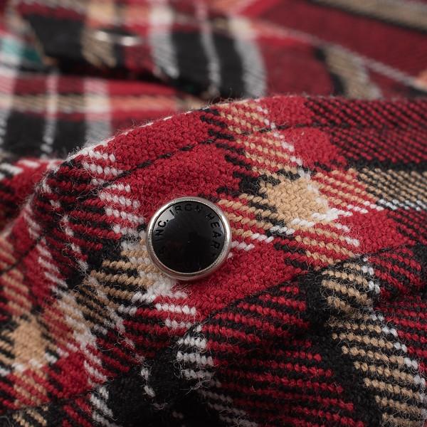 Black Crazy Check Ultra Heavy Flannel Western Shirt--6.jpg