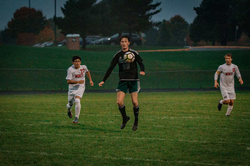 Holy Family Boys Varsity Soccer Section 6A Quarterfinal vs. Monticello, 10/10/19: Gavin Lund '21 (25)