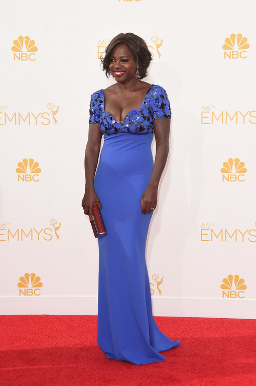 . Actress Viola Davis attends the 66th Annual Primetime Emmy Awards held at Nokia Theatre L.A. Live on August 25, 2014 in Los Angeles, California.  (Photo by Jason Merritt/Getty Images)