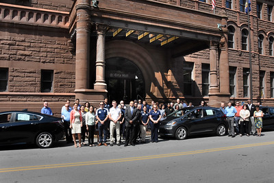 City welcomes electric vehicles to City Hall. 8/23/2017
