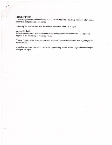 January 2015 Meeting Minutes