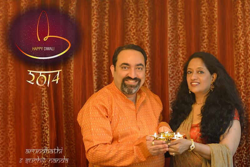 Happy Diwali greetings from Arundhathi and Suchit Nanda, 2014.