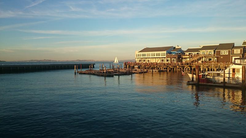 Fishermens Wharf, Pier 39 from the opposite