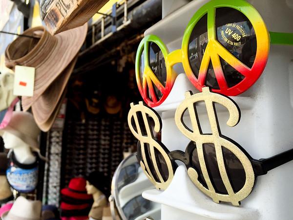 Odd sunglassesd are popular in Venice Beach
