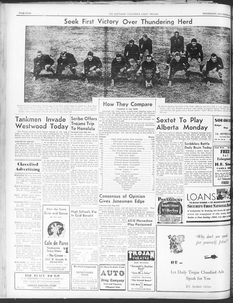 Daily Trojan, Vol. 30, No. 47, November 23, 1938