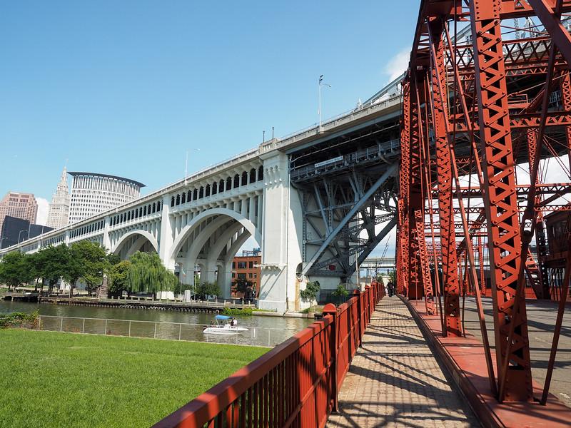 Center Street swing bridge in Cleveland