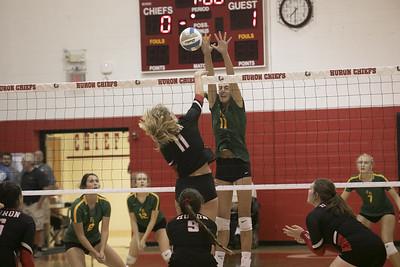HS Sports -  Flat Rock at New Boston Huron Volleyball 19