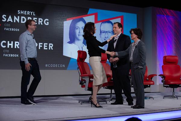 Sheryl Sandberg and Mike Schroepfer
