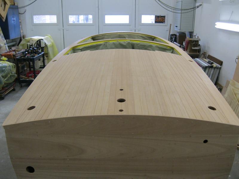 Rear deck seams routed.