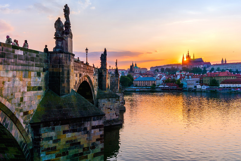 Charles Bridge and St. Vitus Cathedral in Prague