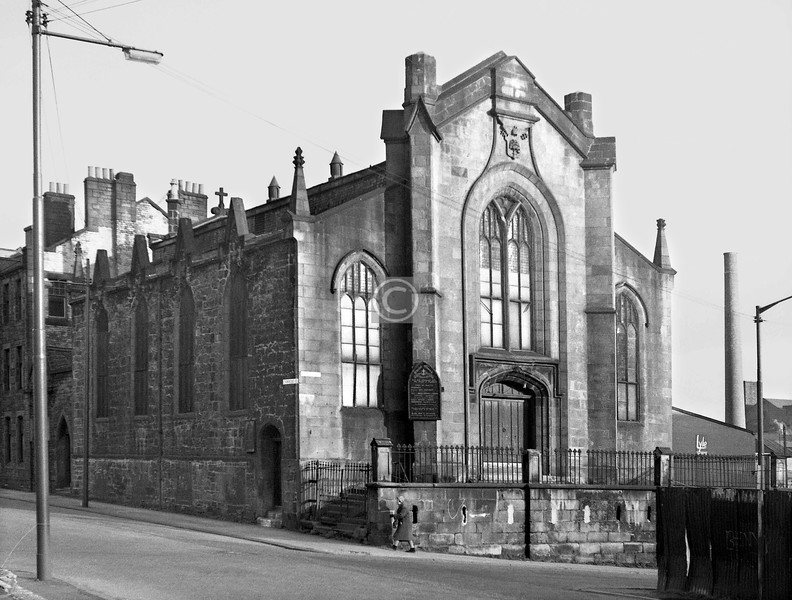 Corner of Crownpoint Rd and Brook St.   Christ Church (Episcopal).    February 1974