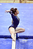 MORGANTOWN, WV - MARCH 8: WVU female gymnast Nicolette Swaboda performs on the balance beam during a dual meet March 8, 2015 in Morgantown, WV.