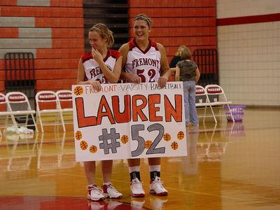 Girls Varsity Basketball  - 2005-2006 - 11/8/2005 vs. Newaygo