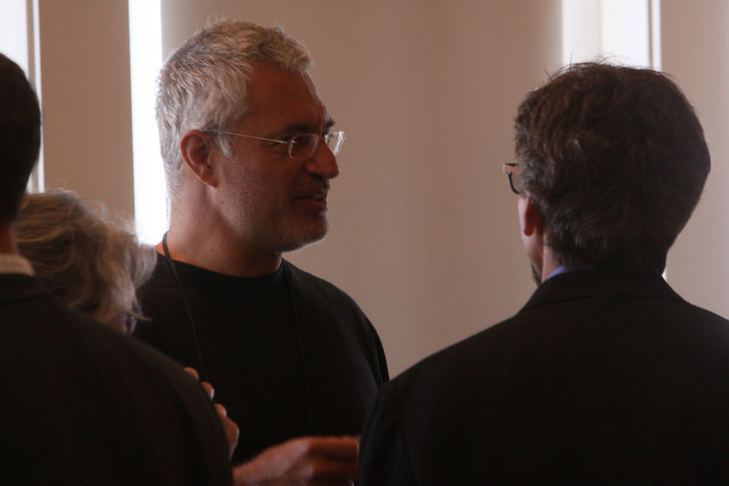 """Louie Psihoyos (L), Director and Filmmaker, """"The Cove""""; and Russ Daggatt, Founding Partner, Denny Hill Capital"""