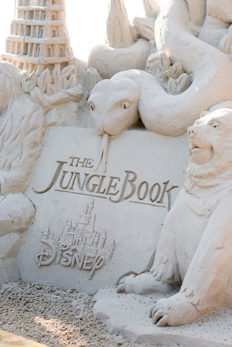 Jungle Book Sand Sculpture
