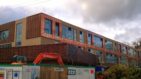 Priory Sch, London SE19- JustFacades.com Aurubis Copper Standing Seam