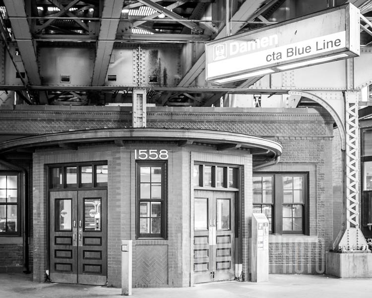 Damen CTA Blue Line Station
